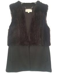 Michael Kors Faux Fur Short Vest - Black