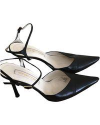 Sergio Rossi Leather Heels - Black