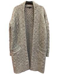 Maje Fall Winter 2019 Wool Cardi Coat - Grey