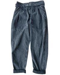 Isabel Marant Anthracite Cotton Pants - Multicolor