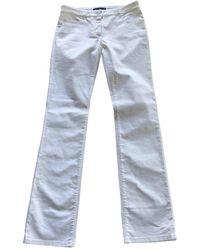 Ferragamo White Cotton Trousers