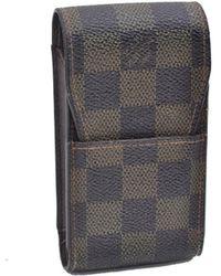 Louis Vuitton Brown Cloth Purses Wallet & Case