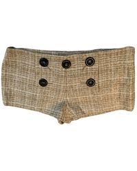 Missoni Wool Mini Short - Natural
