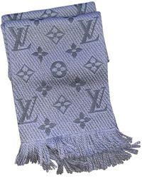 Louis Vuitton Bufanda Logomania de Lana - Gris