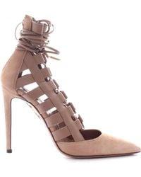 Aquazzura - Brown Leather Heels - Lyst
