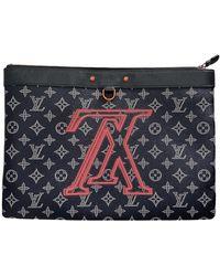 Louis Vuitton Apollo Pochette Cloth Bag - Blue