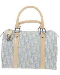 Dior Bowling Blue Cloth Handbag