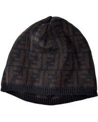 b8e3e56885d Fendi - Pre-owned Vintage Brown Wool Hats - Lyst