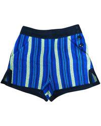 Proenza Schouler Tweed Shorts - Blue