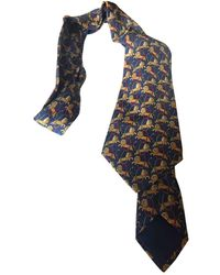 Hermès - Blue Silk Ties - Lyst