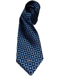Burberry Corbata de Seda - Azul