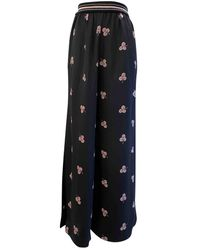 Vilshenko Silk Large Trousers - Black