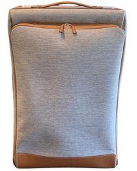 Hermès Calèche-express Cloth Travel Bag - Gray