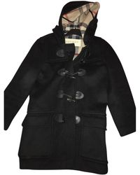 Burberry Wool Dufflecoat - Black