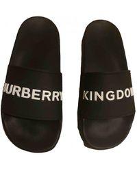 Burberry Black Rubber Sandals