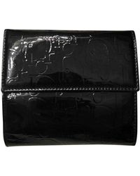 Dior Black Patent Leather Wallets
