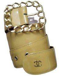 Chanel Cintura in Vernice - Giallo