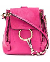 Chloé Faye Pink Leather Backpack