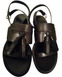 Burberry Leather Sandal - Black