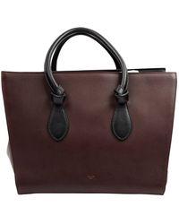 Céline Tie Brown Leather Handbag