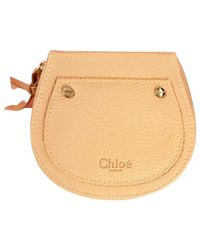 Chloé Leather Vanity Case - Natural