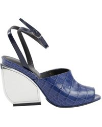 Maison Margiela - Blue Leather - Lyst
