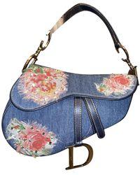 Dior Saddle Satchel - Blue