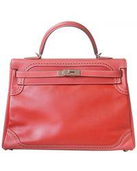 Hermès Kelly 35 Leather Handbag - Orange