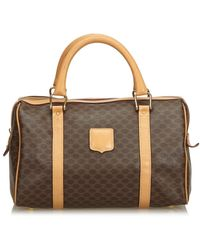 Céline Brown Cloth Handbag