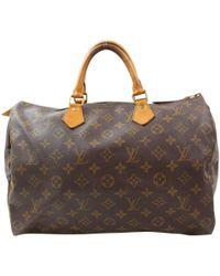cb9bdf42183b Lyst - Louis Vuitton Speedy 30 Handbag - Vintage in Brown