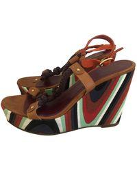 M Missoni Cloth Sandals - Multicolor