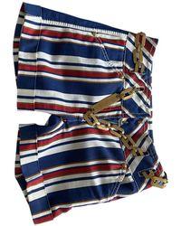 Roberto Cavalli - Blue Cotton Shorts - Lyst