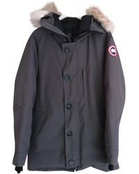 Canada Goose Anthracite Cotton Coat - Multicolour