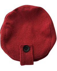 Chanel Sombrero en lana rojo