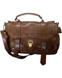 Proenza Schouler Ps1 Leather Satchel - Brown