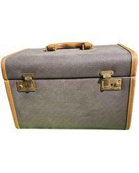 Lancel Cloth Vanity Case - Brown
