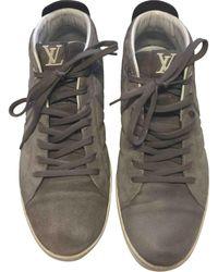 Louis Vuitton Fuselage Anthracite Leather Trainers - Multicolour