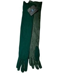 Lanvin Leather Long Gloves - Green