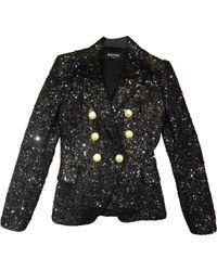 Balmain - Black Viscose Jacket - Lyst