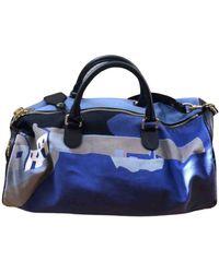 Loewe Cloth Weekend Bag - Blue