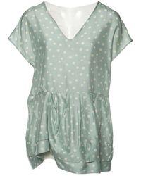 Marni - Green Silk Top - Lyst
