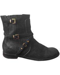 Dior Black Suede Ankle Boots