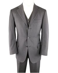 Ferragamo Gray Wool Suits