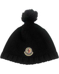 Moncler Wolle Hüte mützen - Schwarz