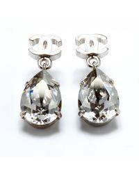 Chanel Boucles d'oreilles CC - Métallisé