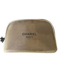 Chanel Cloth Vanity Case - Metallic
