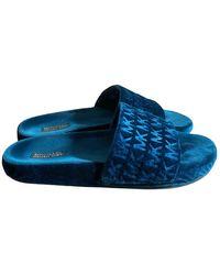 Michael Kors Velvet Mules & Clogs - Blue