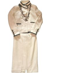 Chanel Beige Wool Jacket - Natural