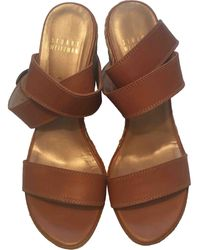 Stuart Weitzman Leather Sandal - Brown