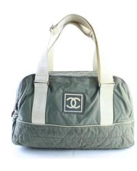 Chanel Leather Travel Bag - Green
